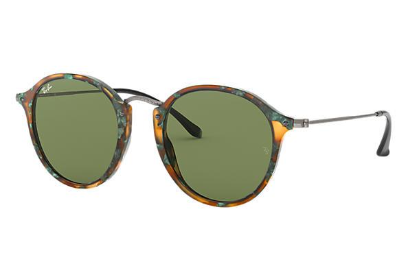 ray ban round tortoise sunglasses  ray ban 0rb2447 round fleck tortoise; gunmetal sun