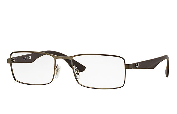 Ray-Ban 0RX6332-RB6332 Gunmetal; Brown OPTICAL