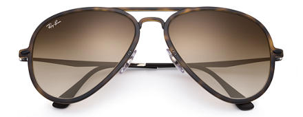 Ray-Ban AVIATOR LIGHT RAY II Tortoise with Brown Gradient lens