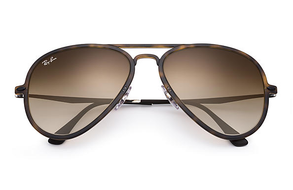 ray ban aviator brown  Ray-Ban Aviator Light Ray Ii Tortoise Gunmetal, RB4211
