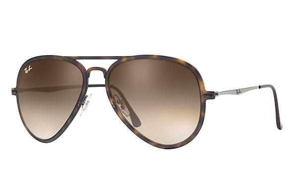 Ray-Ban 0RB4211-AVIATOR LIGHT RAY II Tartaruga; Canna di fucile SUN