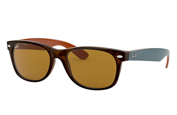 Ray-Ban 0RB2132-NEW WAYFARER BICOLOR Tortoise; Green,Brown SUN