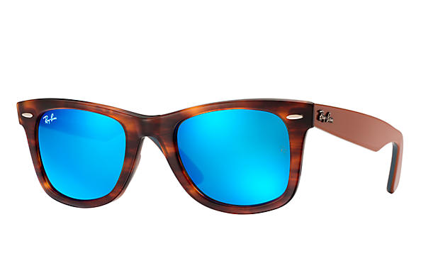 Ray-Ban 0RB2140-ORIGINAL WAYFARER BICOLOR Tortoise; Light Brown,Blue SUN
