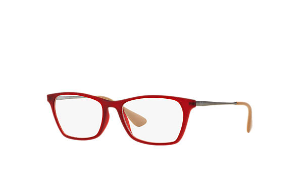 Ray-Ban 0RX7053-RB7053 Rojo; Gunmetal OPTICAL