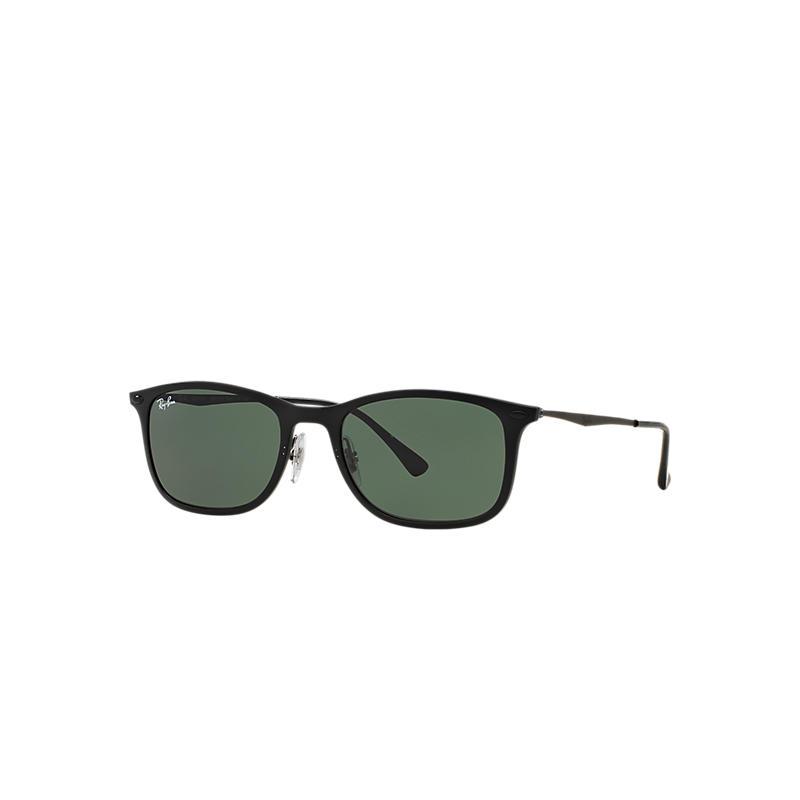 Ray-Ban New Wayfarer Light Ray Black Sunglasses, Green Lenses - Rb4225