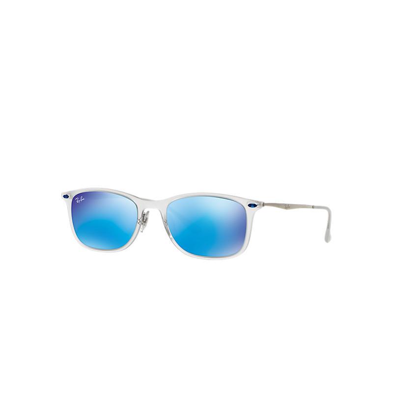 Ray-Ban New Wayfarer Light Ray Gunmetal Sunglasses, Blue Lenses - Rb4225