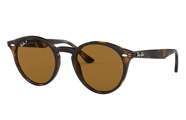 ray ban rb2180 round framed sunglasses tortoise  ray ban 0rb2180 rb2180 tortoise sun