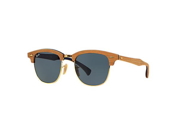 Ray-Ban 0RB3016M-CLUBMASTER WOOD Marrón SUN