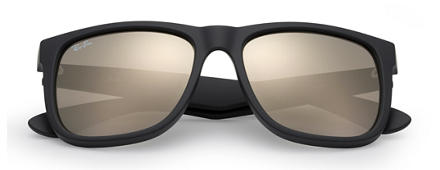 Ray-Ban JUSTIN COLOR MIX Svart med Guld Spegel lins