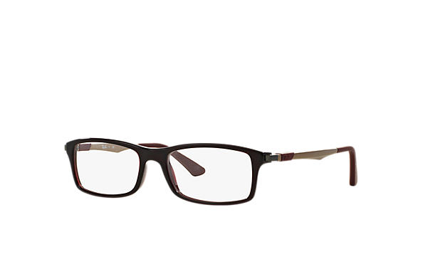 Ray-Ban 0RX7017-RB7017 Red; Bronze-Copper OPTICAL