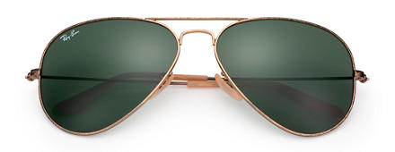 Ray-Ban AVIATOR CLASSIC Gold with Green Classic G-15 lens