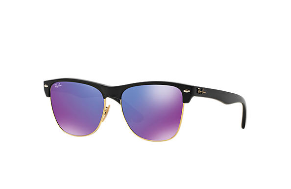 Ray-Ban 0RB4175-CLUBMASTER OVERSIZED FLASH LENSES Black SUN