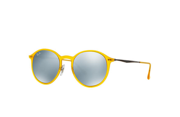 ray ban yellow frame  ray ban 0rb4224 round light ray yellow; gunmetal sun
