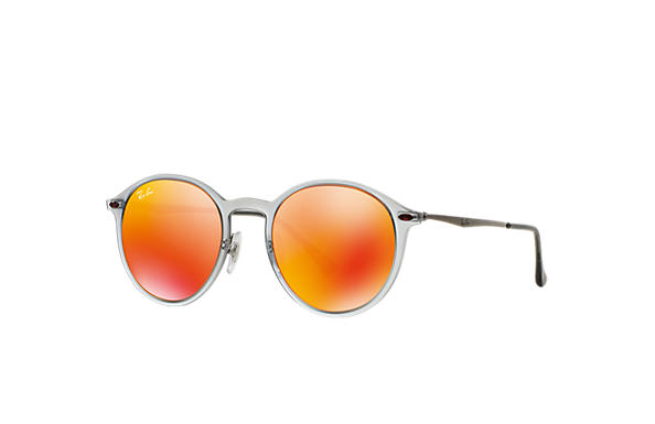 Ray-Ban 0RB4224-ROUND LIGHT RAY Gris; Argent SUN