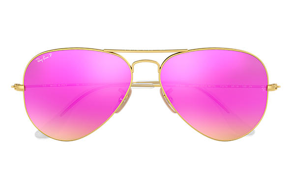 ray ban pink aviator  Ray-Ban Aviator Flash Lenses Gold, Polarized Lenses - RB3025