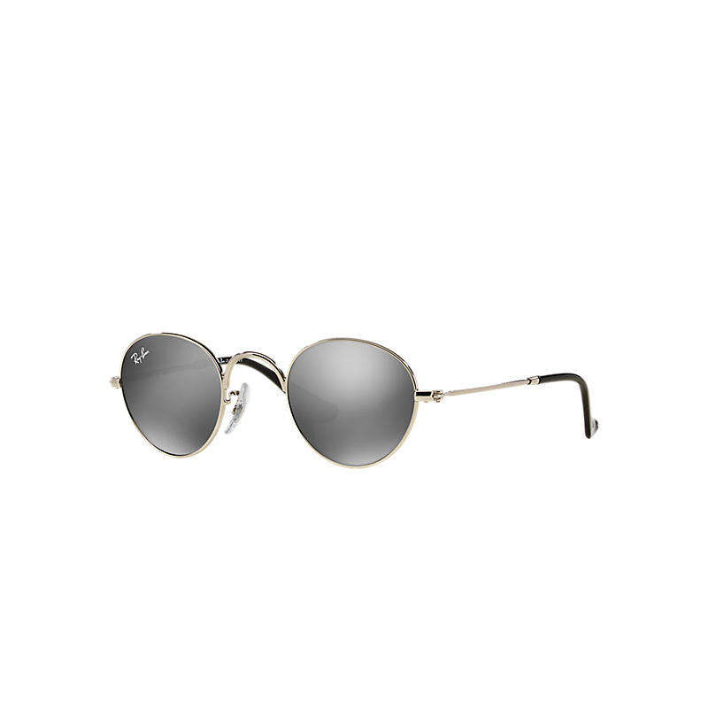 Ray-Ban Junior Round Junior Silver Sunglasses, Gray Lenses - Rb9537s 8053672474619