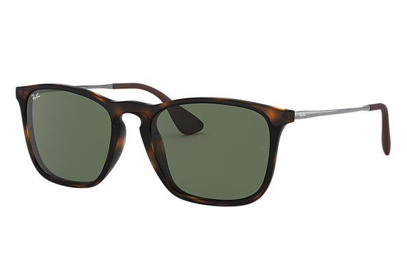 ray ban keyhole sunglasses  ray ban 0rb4187 chris tortoise; gunmetal sun