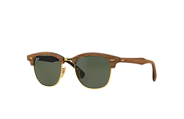 ray ban glasses clubmaster  ray ban 0rb3016m clubmaster wood brown,black; black,brown sun