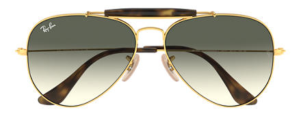 Ray-Ban OUTDOORSMAN HAVANA COLLECTION Gold with Grey Gradient lens