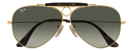Ray-Ban SHOOTER HAVANA COLLECTION Gold with Grey Gradient lens