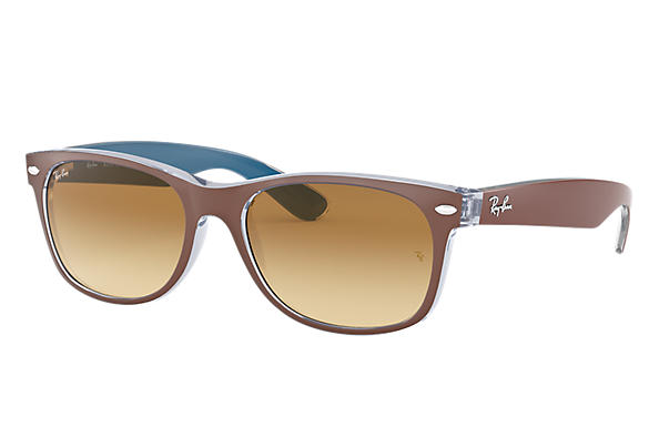 Ray-Ban 0RB2132-NEW WAYFARER BICOLOR Brown SUN
