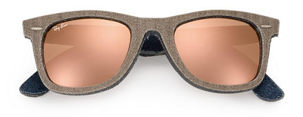 Ray-Ban ORIGINAL WAYFARER Marrone con lente Rame Flash