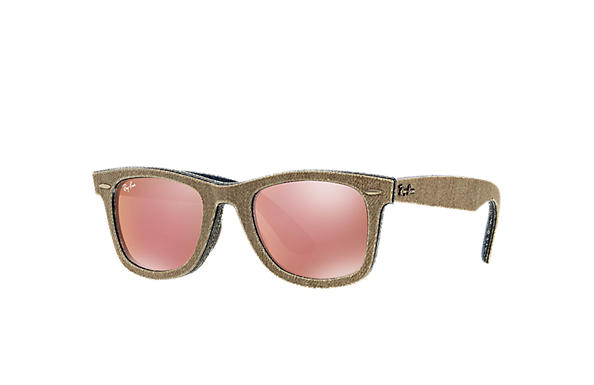 Ray-Ban 0RB2140-ORIGINAL WAYFARER DENIM Brown Denim,Blue; Brown,Blue SUN