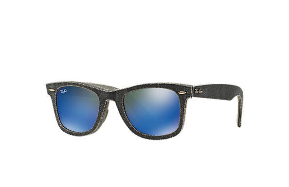 Ray-Ban 0RB2140-ORIGINAL WAYFARER DENIM Black Denim,Gris; Noir,Gris SUN