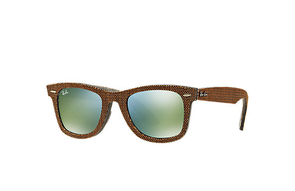 Ray-Ban 0RB2140-ORIGINAL WAYFARER DENIM Brown Denim,Gris; Marron,Gris SUN