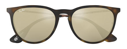 Ray-Ban ERIKA at Collection Havana mit Gold Verspiegelt Gläsern
