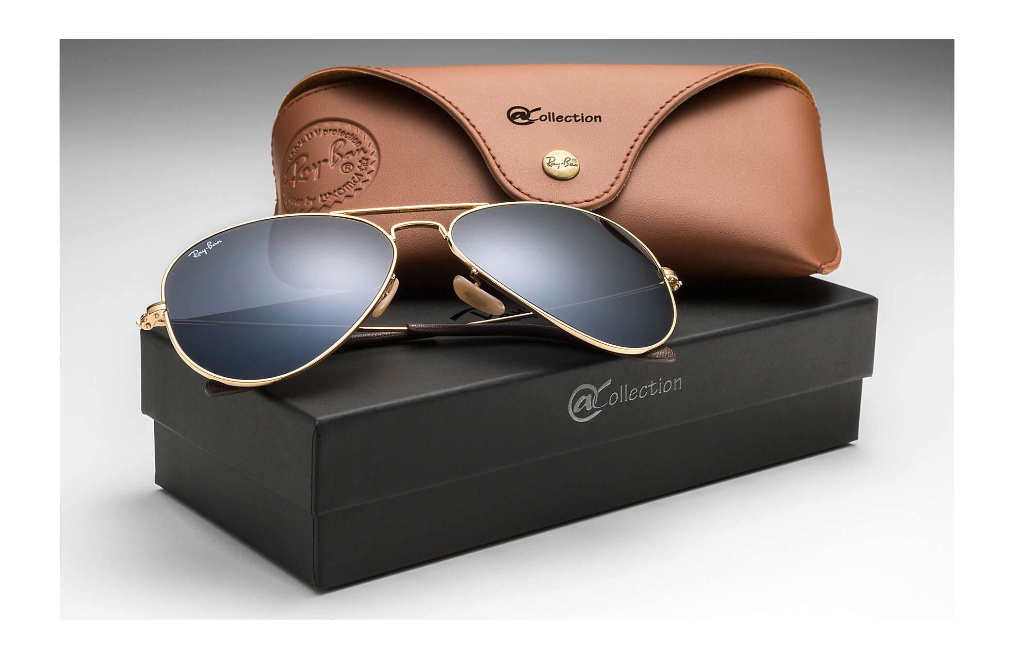 da58c874cc ... case black size l  ray ban 0rb3025 aviator collection gold sun ...