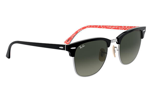 clubmaster  Ray-Ban Clubmaster At Collection en Noir Noir,Rouge, RB3016