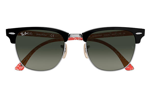 all black ray ban clubmaster  Ray-Ban Clubmaster @collection Black Black,Red, RB3016