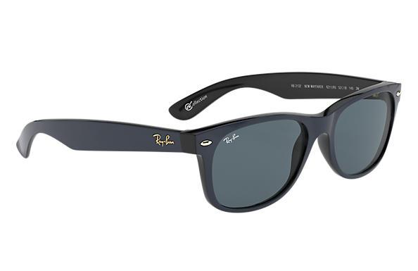 blue ray ban wayfarer sunglasses  ray ban 0rb2132 new wayfarer at collection blue sun
