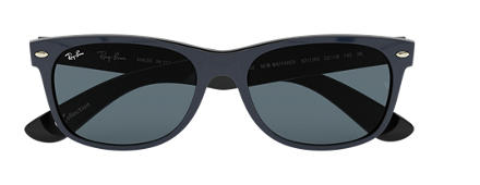 Ray-Ban NEW WAYFARER at Collection Blue with Blue/Gray Classic lens