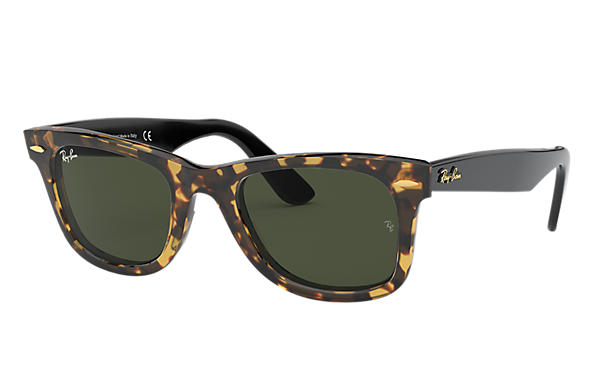Ray-Ban 0RB2140-ORIGINAL WAYFARER @Collection Havana; Schwarz SUN