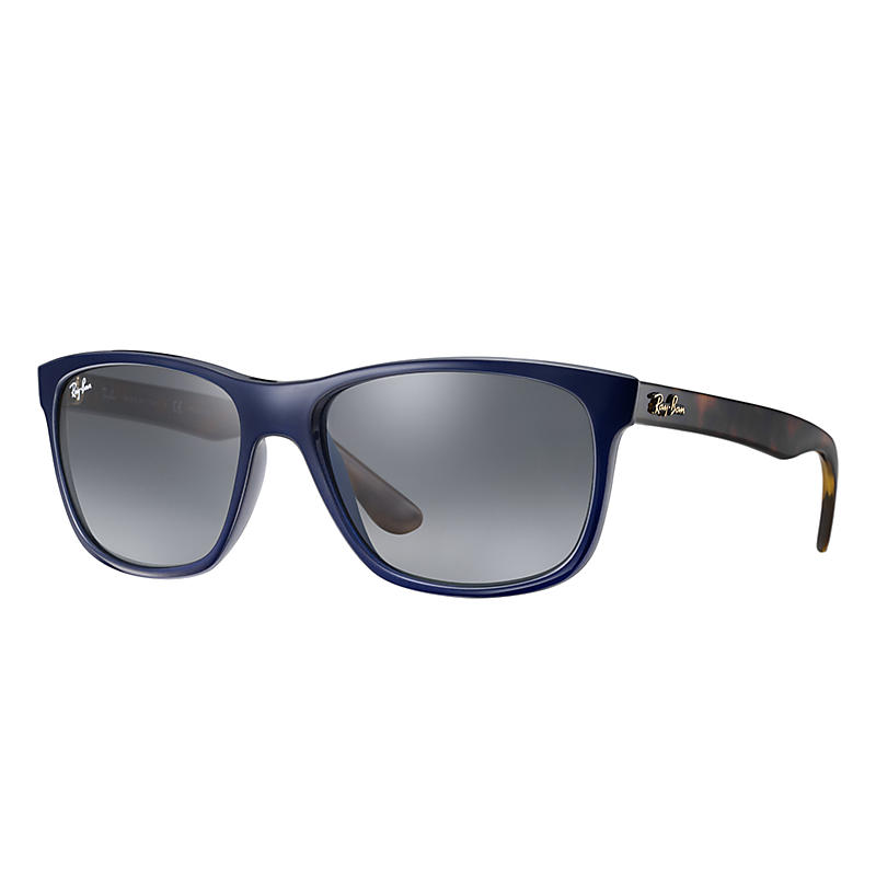 Image of Ray-Ban At Collection Black Sunglasses, Gray Lenses - Rb4181