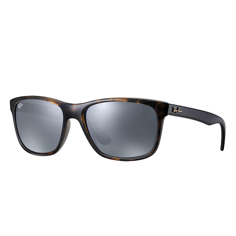 Image of Ray-Ban At Collection Blue Sunglasses, Gray Lenses - Rb4181