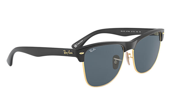 clubmaster ray ban oversized 0mu7  Ray-Ban 0RB4175-CLUBMASTER OVERSIZED at Collection Black SUN