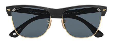 Ray-Ban CLUBMASTER OVERSIZED at Collection Black with Blue/Gray Classic lens