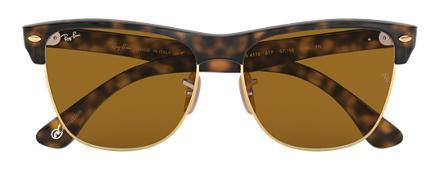 lentes ray ban  ray ban clubmaster oversized at collection carey con lente marrón clásico b 15