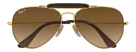 Ray-Ban OUTDOORSMAN CRAFT at Collection Gold with Brown Gradient lens