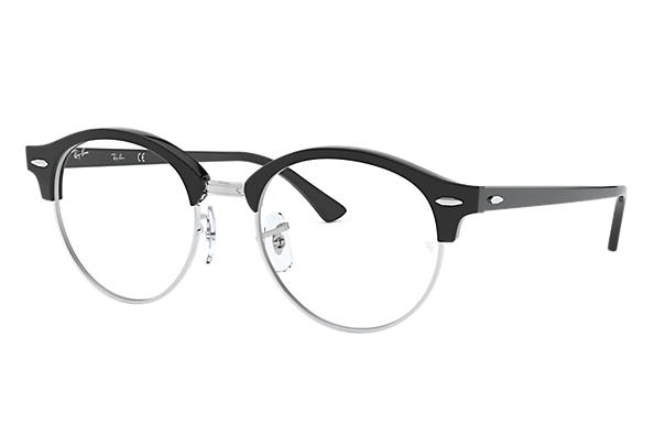 Ray-Ban 0RX4246V-CLUBROUND OPTICS Black,Silver; Black OPTICAL