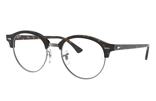 Ray-Ban 0RX4246V-CLUBROUND OPTICS Tortoise,Gunmetal; Tortoise OPTICAL