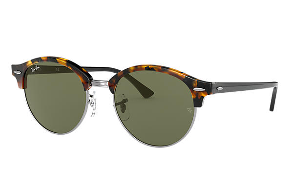 Ray-Ban 0RB4246-CLUBROUND Havane; Noir SUN