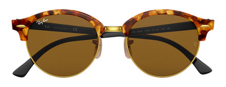 Ray-Ban CLUBROUND Tortoise with Brown Classic B-15 lens