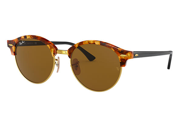 Ray-Ban 0RB4246-CLUBROUND CLASSIC Tortoise; Black SUN