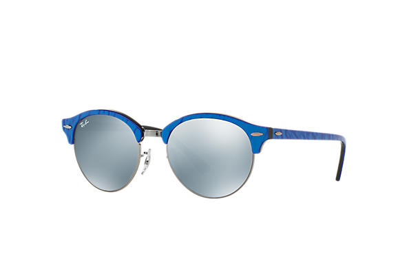 Ray-Ban 0RB4246-CLUBROUND Blue,Gunmetal; Blue,Black SUN