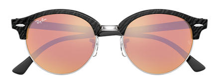Ray-Ban CLUBROUND Nero con lente Rame Flash