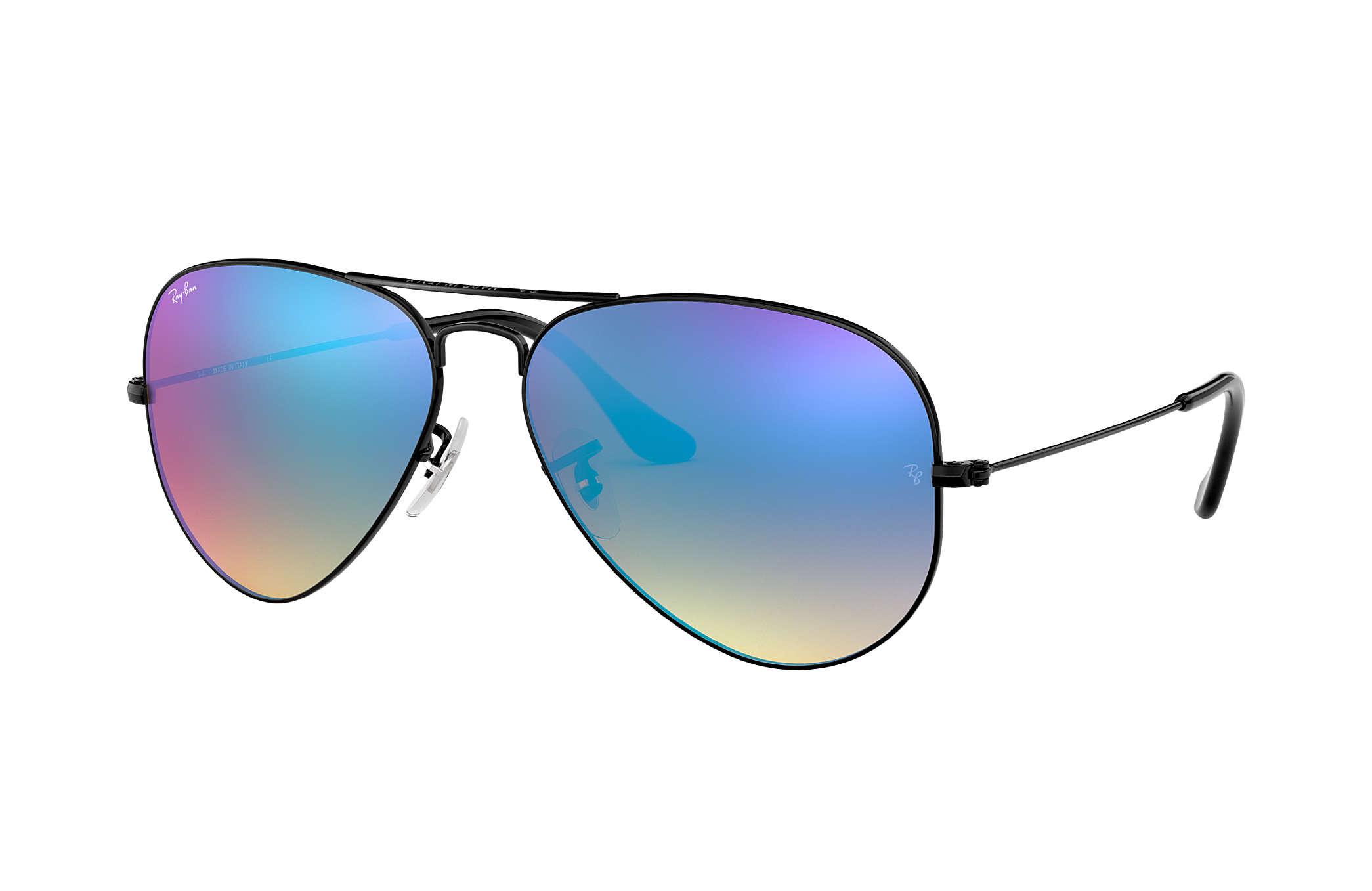 Ray ban sunglasses gradient - Ray Ban 0rb3025 Aviator Flash Lenses Gradient Black Sun